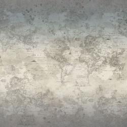 Vintage World Map - STONE