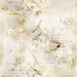 Birds and Cage - PARCHMENT