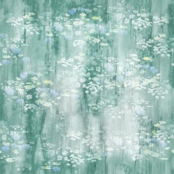 Floral Background Digital - SEAFOAM