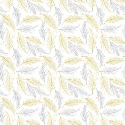 FEATHERS - WHITE/METALLIC