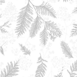 TOSSED BRANCHES - WHITE/SILVER