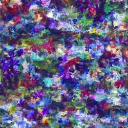 Floral Texture Digital - ZINNIA