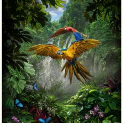 Jungle Parrot Digital Panel (84cm)