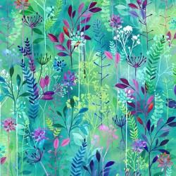 Abstract Flowers - HUMMINGBIRD