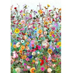 Flower Garden - TURQUOISE