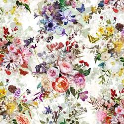 Flowers and Butterflies - CREAM