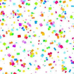 Confetti - RAINBOW/WHITE