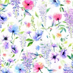 Flowers and Birds - HUMMINGBIRD