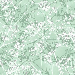 Snowy Branches - MINT/SILVER