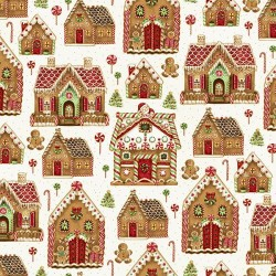 Gingerbread House - NATURAL/GOLD