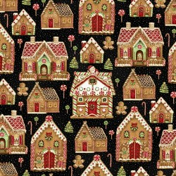 Gingerbread House - BLACK/GOLD