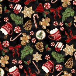 Tossed Christmas  - BLACK/GOLD