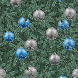 Pine and Baubles - EUCALYPTUS/SILVER