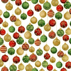 Baubles - CHRISTMAS GREEN/GOLD