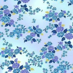 Small  Flowers - PERIWINKLE/GOLD