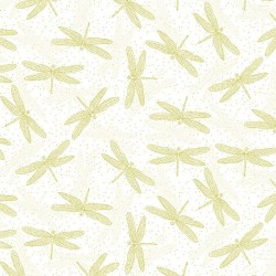 Tossed Dragonflies - WHITE/GOLD