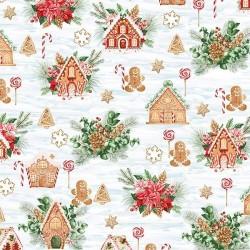 Gingerbread House Scene - SKY/GOLD