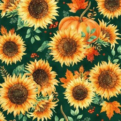 Sunflowers - EMERALD/GOLD