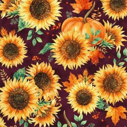 Sunflowers - MULBERRY/GOLD