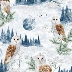 Owls - DUSTY BLUE/SILVER