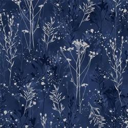 Flower Stems - NAVY/SILVER
