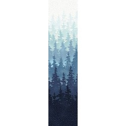 Forest Scene - NAVY/SILVER