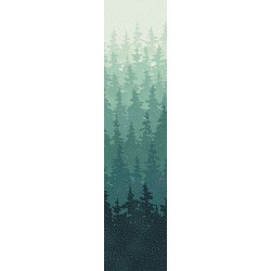 Forest Scene - DUSTY TEAL/SILVER