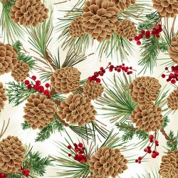 Pine Cones - NATURAL/GOLD