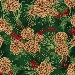 Pine Cones - HUNTER/GOLD