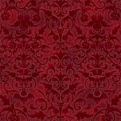Floral Pattern - CRIMSON/SILVER