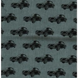 Kokka Japan (85/15-C/Linen-110cm) - CARS - GREY