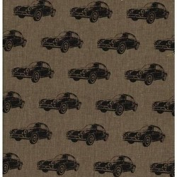Kokka Japan (85/15-C/Linen-110cm) - CARS - BROWN