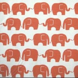 Kokka Japan (100%-Cotton-110cm) - ELEPHANTS - RED