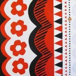 Kokka Japan (100%-Cotton-110cm) - GEOMETRIC - RED/BLACK