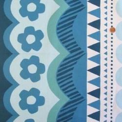 Kokka Japan (100%-Cotton-110cm) - GEOMETRIC - TEAL/BLUE