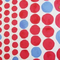 Kokka Japan (100%-Cotton-110cm) - LARGE DOTS - RED