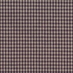 "Linen (60"") CHECKS - NATURAL/GRAPE"
