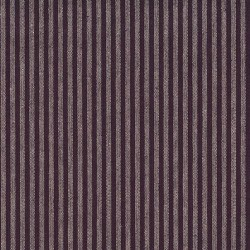 "Linen (60"") NATURAL STRIPE - PURPLE"