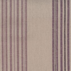 "Linen (60"") WIDE STRIPE - NATURAL/MAUVE"