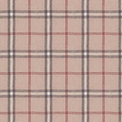 "Linen (60"") PLAID - RED/NATURAL"