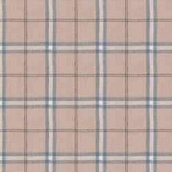 "Linen (60"") PLAID - BLUE"
