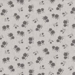 "Linen (60"") FLORAL - NATURAL/GREY"