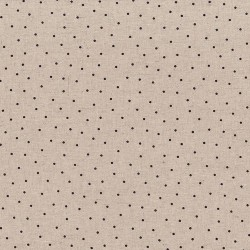 "Linen (60"") DOTS - NATURAL/AUBERGINE"