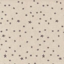 "Linen (60"") STARS - NATURAL/GREY"
