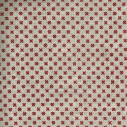 Linen 100% (1.5m) - Tiny Flowers - RED