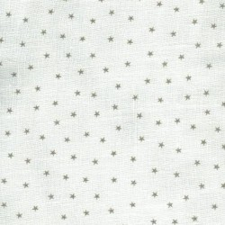 Linen 100% (1.5m) - Stars - GREY
