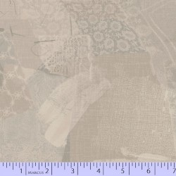 LACE FABRIC SCRAP COLLAGE - TAUPE