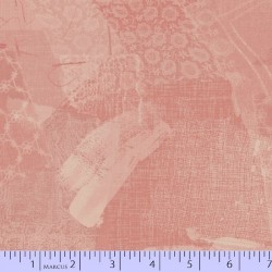 LACE FABRIC SCRAP COLLAGE - PINK