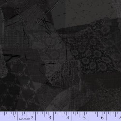 LACE FABRIC SCRAP COLLAGE - BLACK