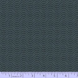 Wavy Grid - CHARCOAL
